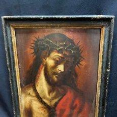 Arte: ECCE HOMO, OLEO SOBRE TABLA, SIGLO XVII.. Lote 275493443