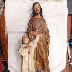Arte: GRAN IMÁGEN DE SAN JOSÉ CON EL NIÑO JESÚS. DE EL ARCÓN DEL CRISTIANO DE OLOT.. Lote 275578638