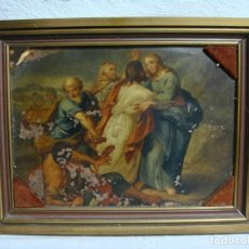 Arte: ÓLEO SOBRE COBRE. MOTIVO RELIGIOSO. S.XVIII.. Lote 275668148