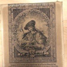 Arte: GRABADO RELIGIOSO LA DIVINA PASTORA. SE VENERA EN EL CONVENTO DE LAS CAPUCHINAS DE NAVA DEL REY. Lote 275671838