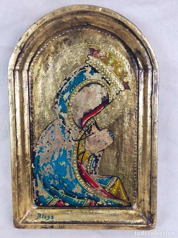 ICONO RELIGIOSO FIRMADO BLAYA 20X30 CM (Arte - Arte Religioso - Iconos)