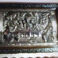 Arte: CUADRO DE LA SANTA CENA DE JESÚS- EN COBRE PLATEADO- GRAN RELIEVE. Lote 275735698