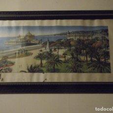 Arte: ANTIGUO CUADRO SIGLO XVIII CON LAMINA (POSIBLEMENTE ORIGINAL CON FIRMA ) PAISAJE FRANCÉS 72 X 39 CM. Lote 275846083