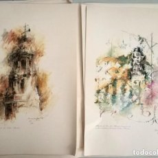 Arte: CARPETA CON 6 LITOGRAFIAS FALLA SUECA LITERATO AZORIN DE ARMANDO SERRA NUMERADAS Y FIRMADAS. Lote 275866778