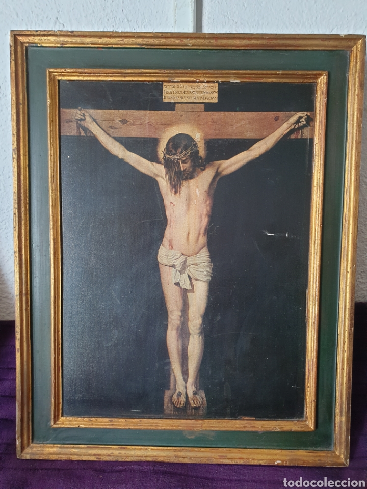 ANTIGUO RETABLO RELIGIOSO JESÚS CRISTO (Arte - Arte Religioso - Retablos)