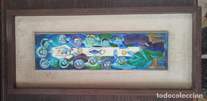 CUADRO MONTSERRAT MAINAR DE ESMALTE LA ÚLTIMA CENA (Arte - Arte Religioso - Pintura Religiosa - Otros)