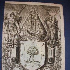 Arte: AÑO 1623 GRABADO DEL TEATRO DE LAS GRANDEZAS DE LA VILLA Y CORTE DE MADRID DAVILA - RELIGION VIRGEN. Lote 276016463