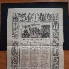 Arte: DOS GOIGS :1864 RELOTGE DE HORAS MENTALS Y SIN DATAR LOS DIEZ MANDAMIENTOS. Lote 276096508