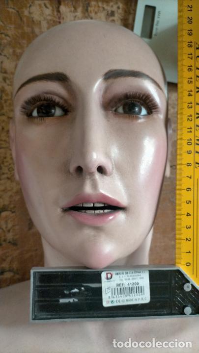 Arte: virgen tamaño natural PARA PELUCA - madera ojos cristal Y PESTAÑAS JUEGO DE manos - SEMANA SANTA - Foto 28 - 131461990