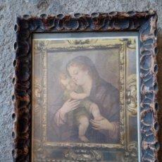 Arte: ANTIGUO CUADRO RELIGIOSO CON MARCO MUY BONITO. Lote 276287903