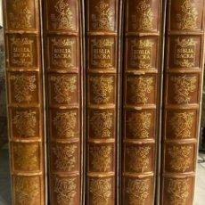 Arte: SALVADOR DALI BIBLIA SACRA - RIZZOLI 1967 - EXCELENTE ESTADO - COMPLETO CON 105 PLATOS. Lote 276451983