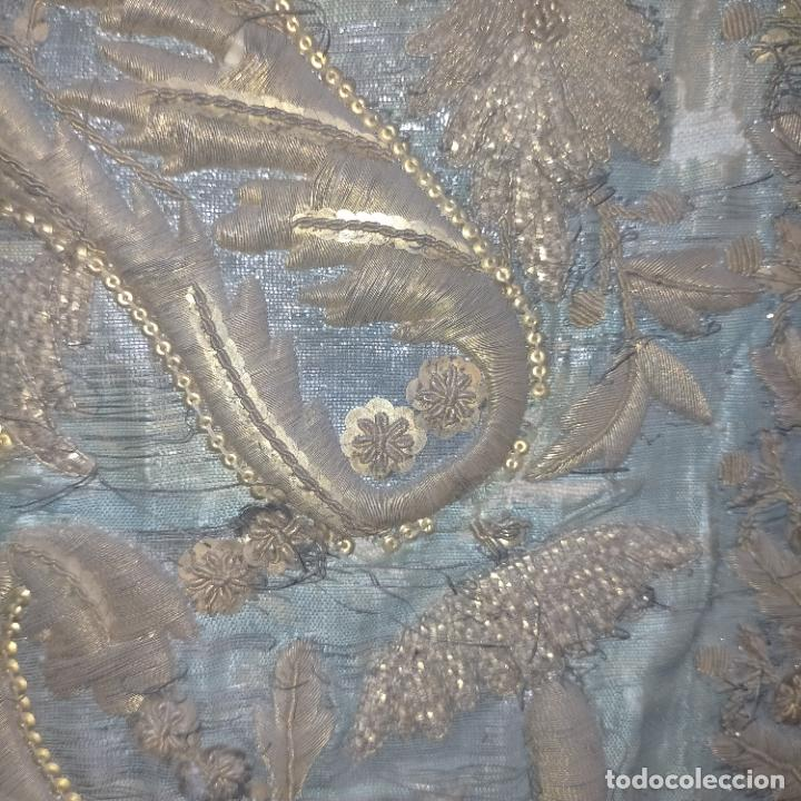 Arte: IMPRESIONANTE ANTIGUA VIRGEN MADERA 108 CM CORONA TRAJE BORDADO PELUCA MANTO SAYA PEANA SEMANA SANTA - Foto 7 - 276622668