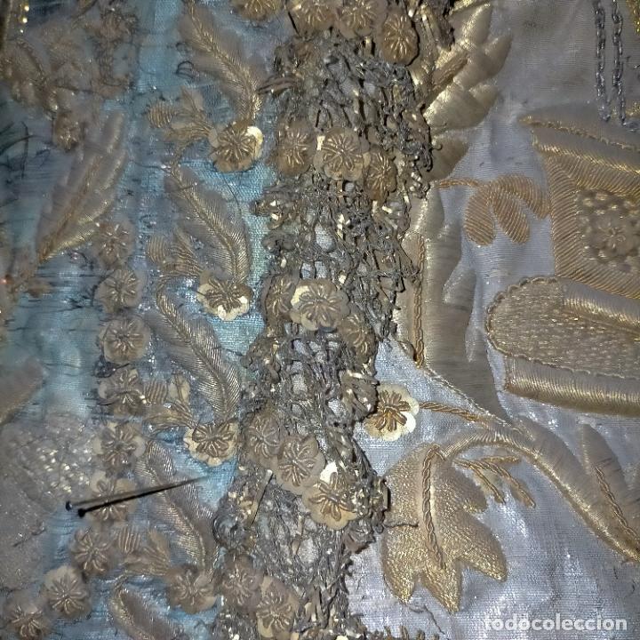 Arte: IMPRESIONANTE ANTIGUA VIRGEN MADERA 108 CM CORONA TRAJE BORDADO PELUCA MANTO SAYA PEANA SEMANA SANTA - Foto 27 - 276622668