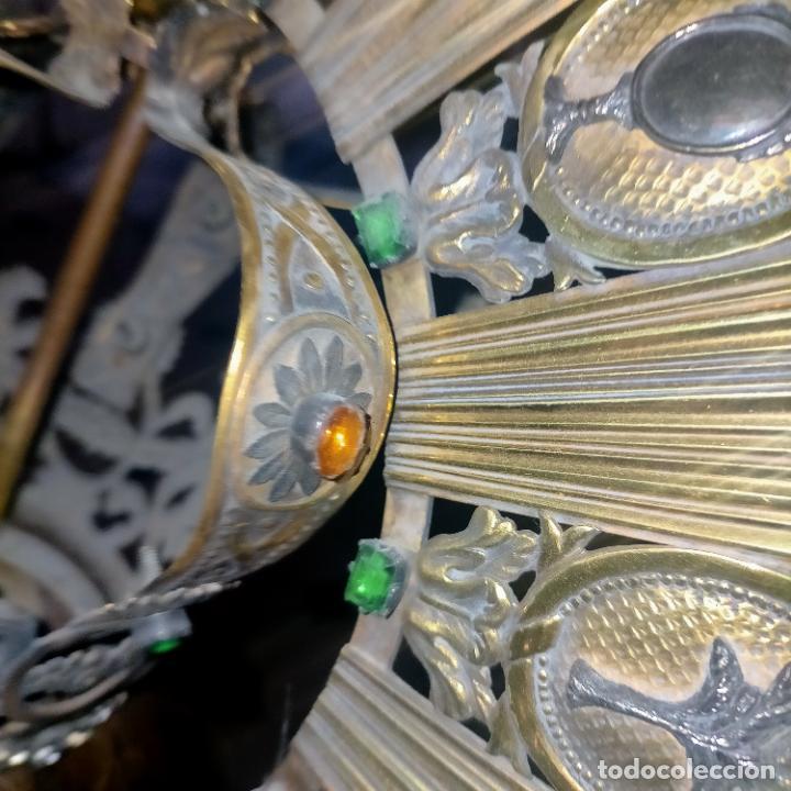 Arte: IMPRESIONANTE ANTIGUA VIRGEN MADERA 108 CM CORONA TRAJE BORDADO PELUCA MANTO SAYA PEANA SEMANA SANTA - Foto 45 - 276622668