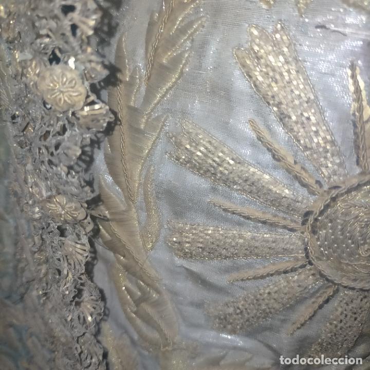 Arte: IMPRESIONANTE ANTIGUA VIRGEN MADERA 108 CM CORONA TRAJE BORDADO PELUCA MANTO SAYA PEANA SEMANA SANTA - Foto 53 - 276622668