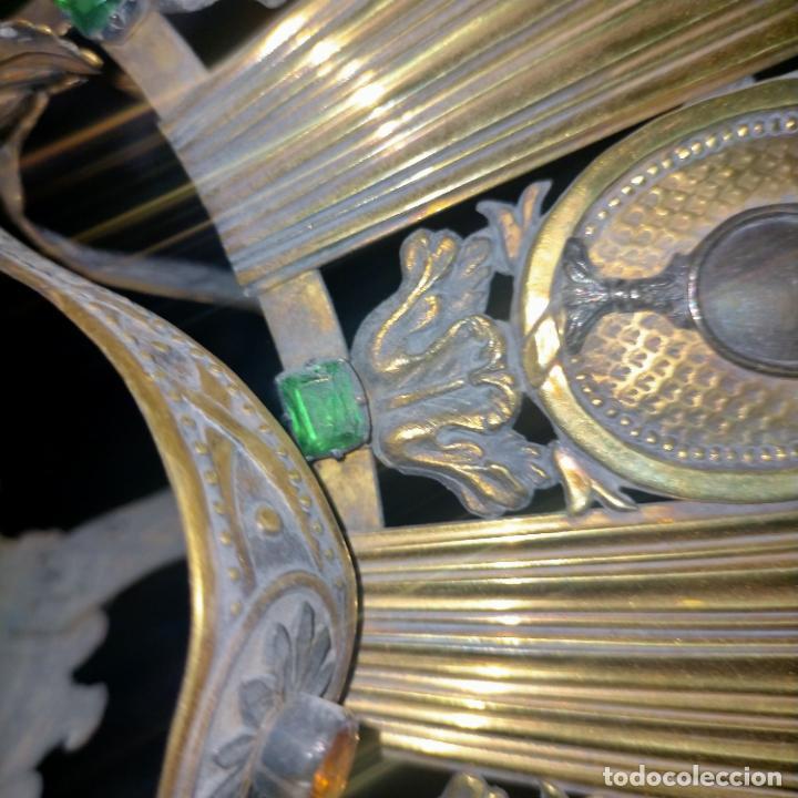 Arte: IMPRESIONANTE ANTIGUA VIRGEN MADERA 108 CM CORONA TRAJE BORDADO PELUCA MANTO SAYA PEANA SEMANA SANTA - Foto 59 - 276622668