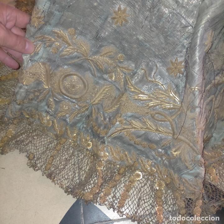 Arte: IMPRESIONANTE ANTIGUA VIRGEN MADERA 108 CM CORONA TRAJE BORDADO PELUCA MANTO SAYA PEANA SEMANA SANTA - Foto 106 - 276622668