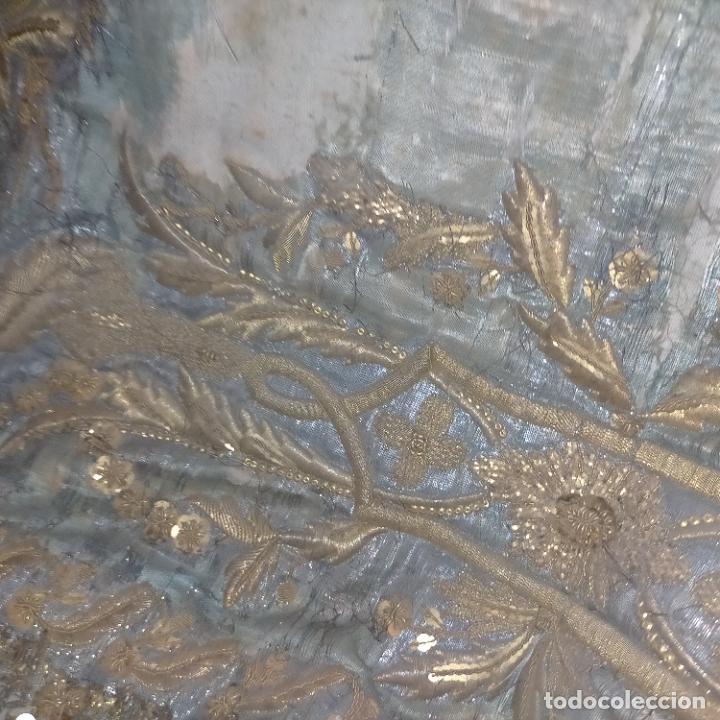 Arte: IMPRESIONANTE ANTIGUA VIRGEN MADERA 108 CM CORONA TRAJE BORDADO PELUCA MANTO SAYA PEANA SEMANA SANTA - Foto 108 - 276622668