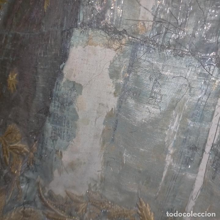 Arte: IMPRESIONANTE ANTIGUA VIRGEN MADERA 108 CM CORONA TRAJE BORDADO PELUCA MANTO SAYA PEANA SEMANA SANTA - Foto 112 - 276622668