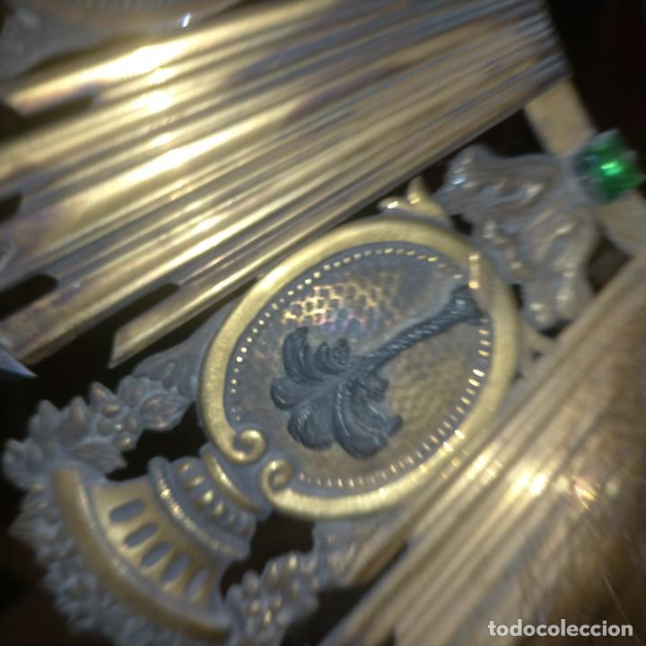 Arte: IMPRESIONANTE ANTIGUA VIRGEN MADERA 108 CM CORONA TRAJE BORDADO PELUCA MANTO SAYA PEANA SEMANA SANTA - Foto 136 - 276622668