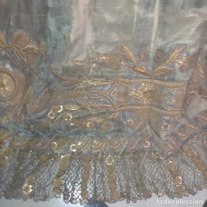 Arte: IMPRESIONANTE ANTIGUA VIRGEN MADERA 108 CM CORONA TRAJE BORDADO PELUCA MANTO SAYA PEANA SEMANA SANTA - Foto 143 - 276622668