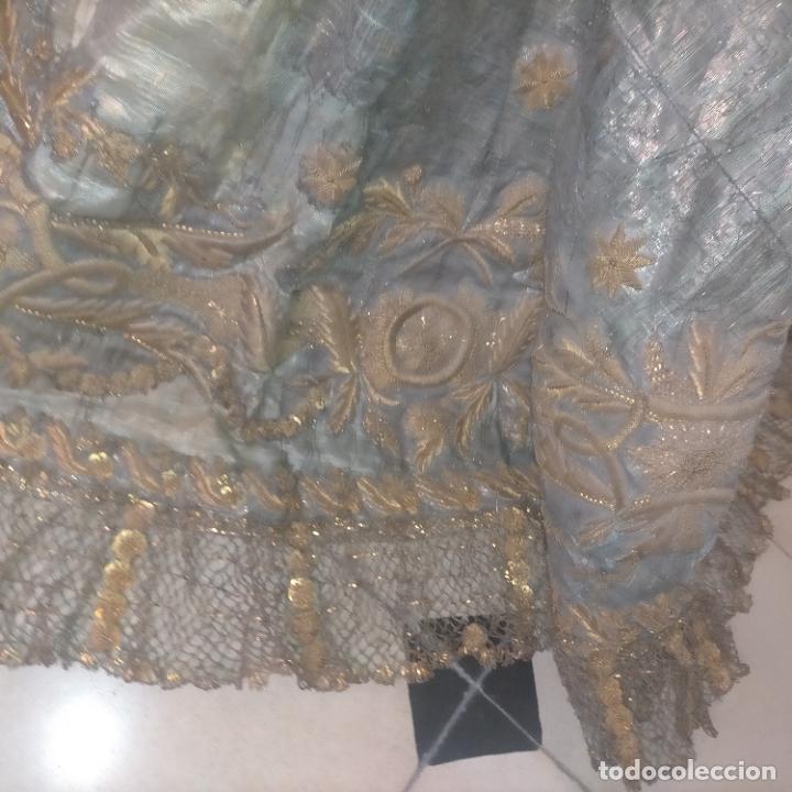 Arte: IMPRESIONANTE ANTIGUA VIRGEN MADERA 108 CM CORONA TRAJE BORDADO PELUCA MANTO SAYA PEANA SEMANA SANTA - Foto 144 - 276622668