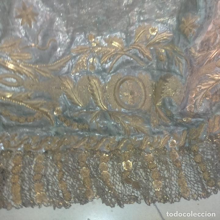 Arte: IMPRESIONANTE ANTIGUA VIRGEN MADERA 108 CM CORONA TRAJE BORDADO PELUCA MANTO SAYA PEANA SEMANA SANTA - Foto 153 - 276622668