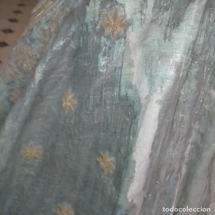 Arte: IMPRESIONANTE ANTIGUA VIRGEN MADERA 108 CM CORONA TRAJE BORDADO PELUCA MANTO SAYA PEANA SEMANA SANTA - Foto 157 - 276622668