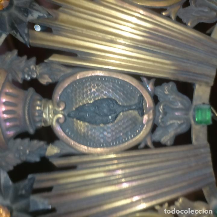 Arte: IMPRESIONANTE ANTIGUA VIRGEN MADERA 108 CM CORONA TRAJE BORDADO PELUCA MANTO SAYA PEANA SEMANA SANTA - Foto 158 - 276622668