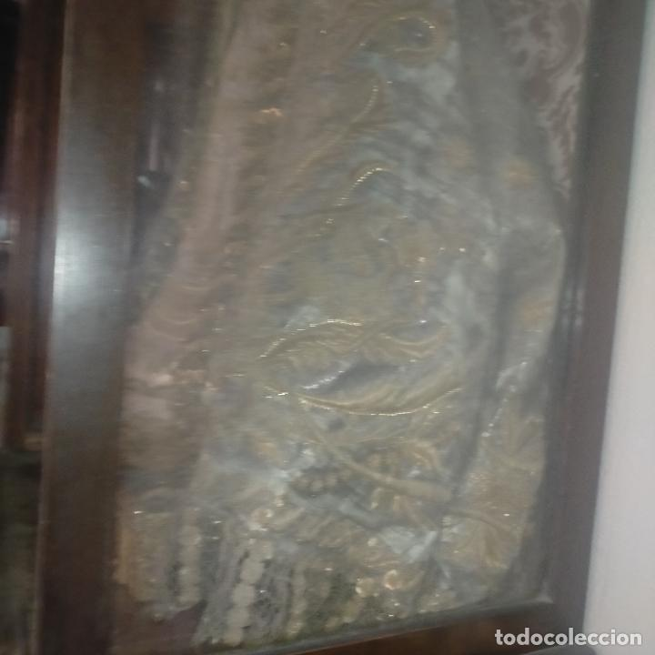 Arte: IMPRESIONANTE ANTIGUA VIRGEN MADERA 108 CM CORONA TRAJE BORDADO PELUCA MANTO SAYA PEANA SEMANA SANTA - Foto 173 - 276622668