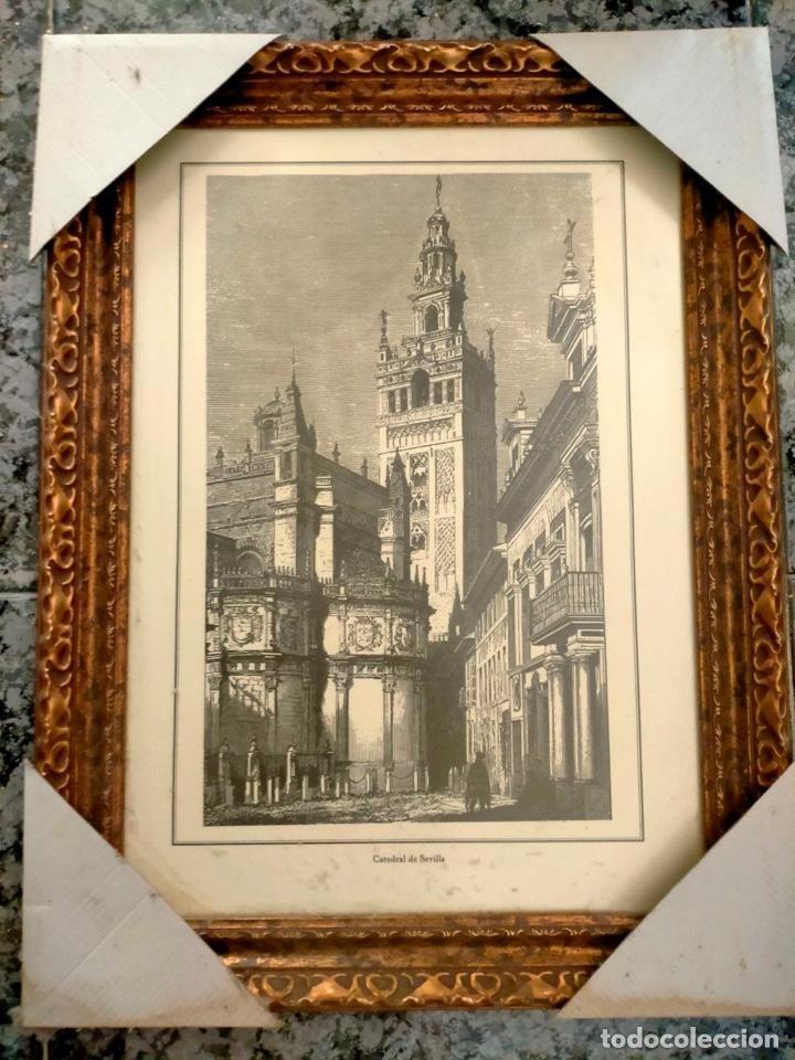 ARTE.- GRABADO ANTIGUO DE LA CATEDRAL DE SEVILLA (Arte - Arte Religioso - Pintura Religiosa - Otros)