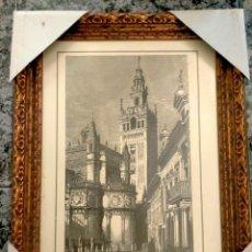 Arte: ARTE.- GRABADO ANTIGUO DE LA CATEDRAL DE SEVILLA. Lote 276655038