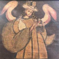 Arte: ESPECTACULAR ÓLEO SOBRE LIENZO DE ARCANGEL (70 X 53 X 4 CM Y 2,2 KG). Lote 276667968