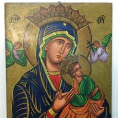 Arte: ICONO AL ÓLEO VIRGEN DEL PERPETUO SOCORRO - ROMA. Lote 276704663