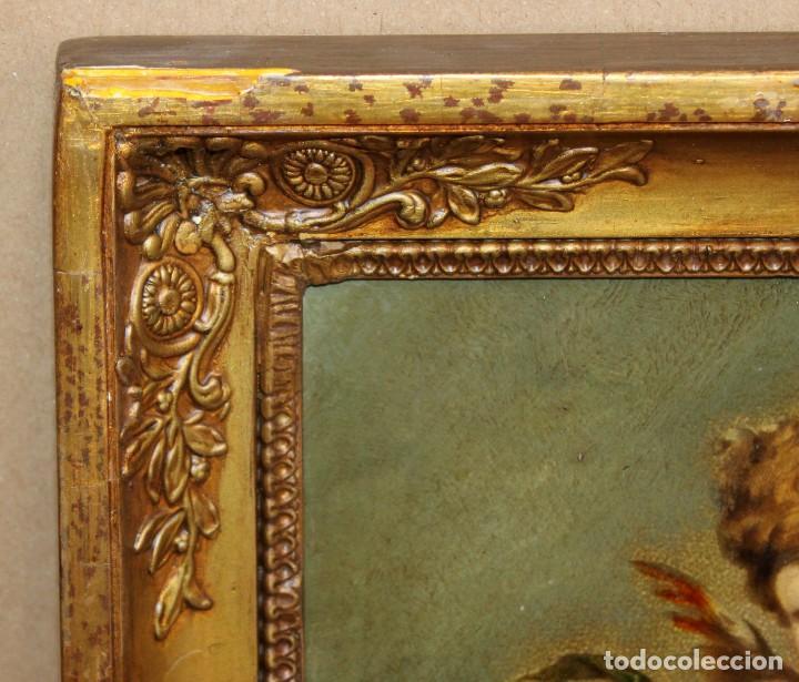 Arte: OLEOGRAFIA PEGADA A TABLA DE APROXIMADAMENTE 1900. QUERUBIN - Foto 8 - 276707643