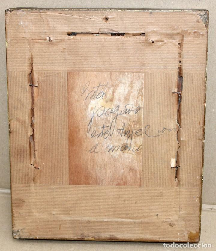 Arte: OLEOGRAFIA PEGADA A TABLA DE APROXIMADAMENTE 1900. QUERUBIN - Foto 9 - 276707643