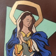 Arte: JOSEP Mª VAYREDA CANADELL (OLOT, 1932-2001) - INMACULADA,DETALLE.RETABLO.FIRMADO.. Lote 276797033