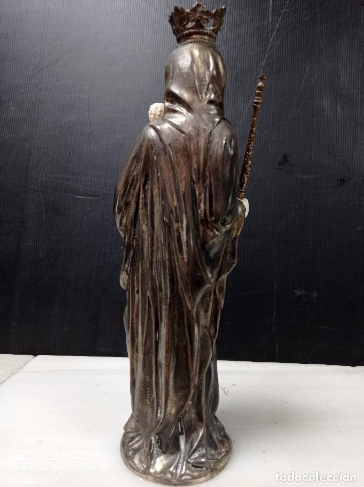 Arte: Antigua Criselefantina Virgen con el niño en brazos, posiblemente plata y marfil - Foto 5 - 276801298