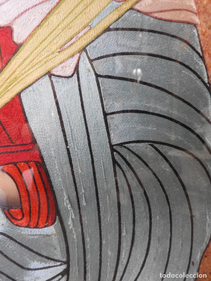 Arte: CUADRO DE SANTA LUCIA DE SEDA ANTIGUO - Foto 4 - 276989923