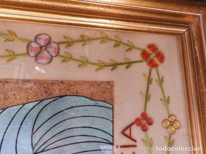 Arte: CUADRO DE SANTA LUCIA DE SEDA ANTIGUO - Foto 10 - 276989923