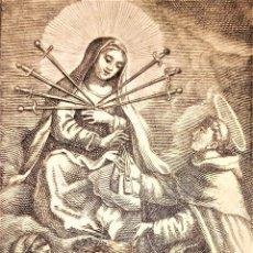 Arte: COLECCIÓN DE 41 ESTAMPAS DE LA VIRGEN MARIA. GRABADOS SOBRPAPEL. ESPAÑA. SIGLO XVIII-XIX. Lote 276995458