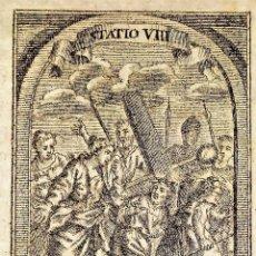 Arte: 3 ESTACIONES DEL VIACRUCIS. MARTIN ENGELBRECHT. GRABADO SOBRE PAPEL. ALEMANIA. XVIII. Lote 277017303