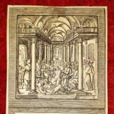 Arte: SERIE DE 42 ESCENAS BÍBLICAS. LEONARD GAULTIER. GRABADO SOBRE PAPEL. FRANCIA. SIGLO XVI-XVII. Lote 277031523