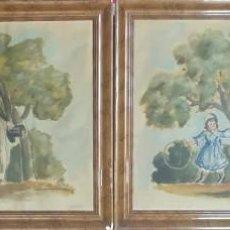 Arte: PAREJA DE CUADROS DE 1940. Lote 277217588
