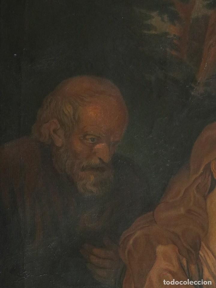 Arte: La Sagrada Familia. Óleo sobre lienzo con dimensiones de 88 x 63 cm. Med. S. XX. - Foto 7 - 277538108