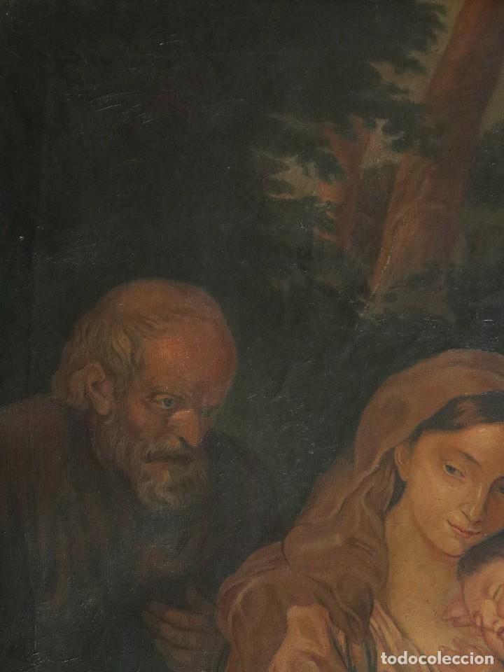 Arte: La Sagrada Familia. Óleo sobre lienzo con dimensiones de 88 x 63 cm. Med. S. XX. - Foto 8 - 277538108