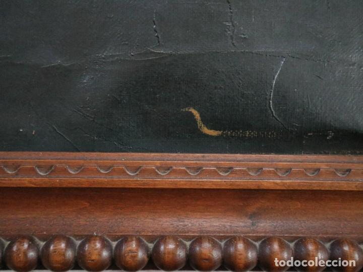 Arte: La Sagrada Familia. Óleo sobre lienzo con dimensiones de 88 x 63 cm. Med. S. XX. - Foto 17 - 277538108