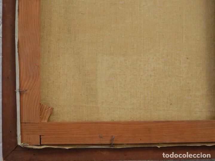 Arte: La Sagrada Familia. Óleo sobre lienzo con dimensiones de 88 x 63 cm. Med. S. XX. - Foto 22 - 277538108