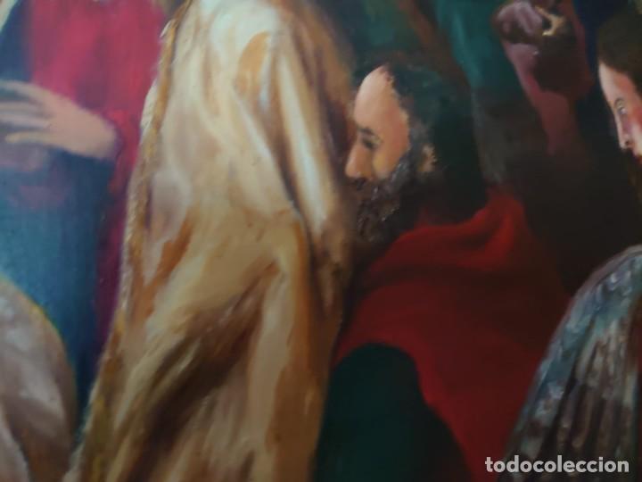 Arte: OLEO SOBRE TABLA LA ADORACION MAGOS RETABLO NEOCLASICO - Foto 8 - 277569418