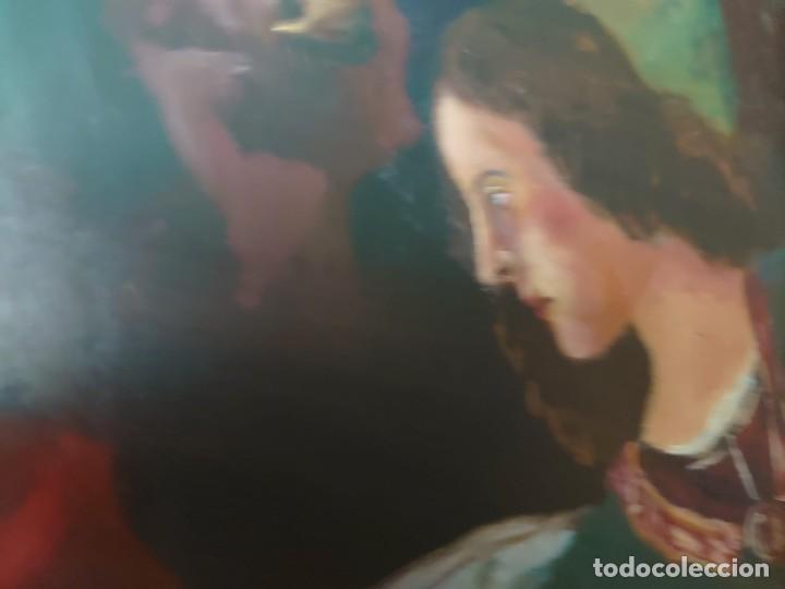 Arte: OLEO SOBRE TABLA LA ADORACION MAGOS RETABLO NEOCLASICO - Foto 12 - 277569418